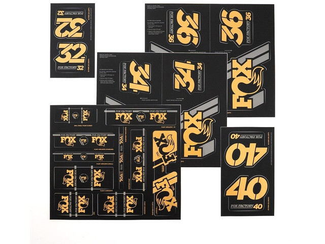 Fox Racing Shox AM Heritage Decal Kit for Fork and Shock gold